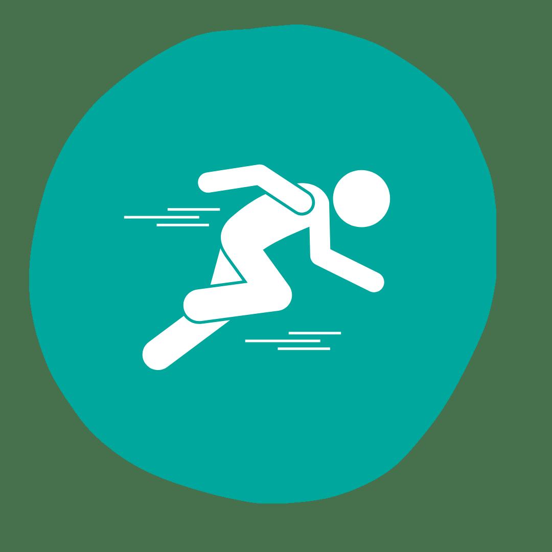 Symbol von einer rennenden Person